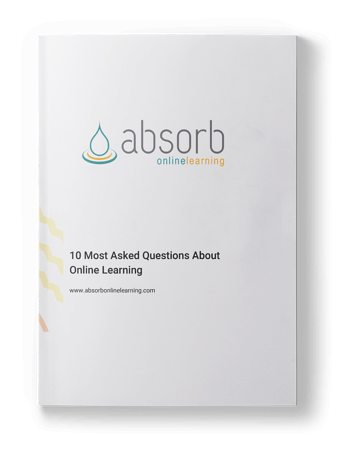 10 of the most asked questions about Absorb Learning's online learning platform